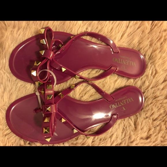 3babcc800 Valentino Shoes - Valentino Purple Rockstud Pink Rubber Jelly